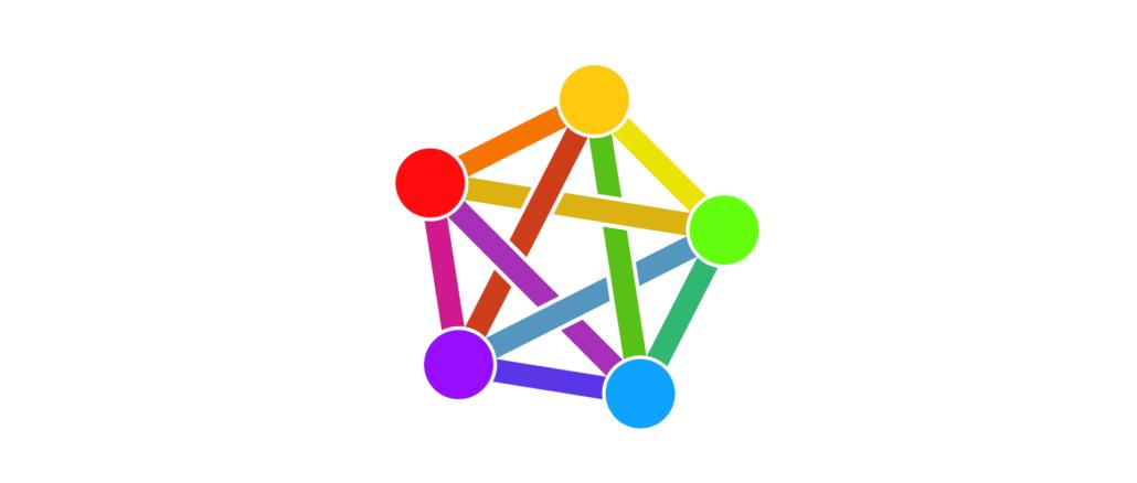 inoffizielles Logo des Fediverse Lizenz: Creative Commons CC0 1.0 Universal Public Domain Dedication.